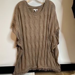 Brown Sonoma L XL tunic sweater cardigan soft warm